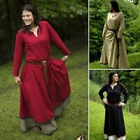 Basic Medieval Dress - Red, Black Or Beige - Larp / Re-enactment / Costume