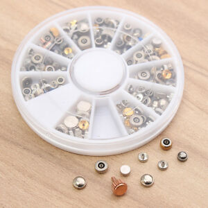 200x-Watch-crowns-Assorted-spares-repairs-mixed-replace-part-watchmakers-Box