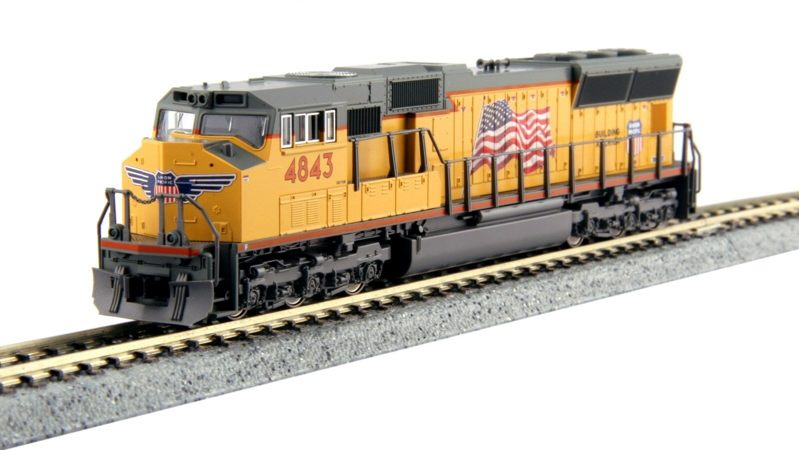 Kato N 176-8609  UNION PACIFIC SD70M  4843   .. DC or DCC(tcs or digitrax)