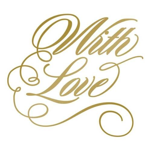 With Love New Couture Creations Anna Griffin Hot Foil Letterpress Plate