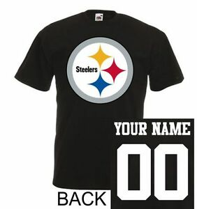 sports shoes 291c5 7d158 Details about Pittsburgh Steelers T-Shirt JERSEY NFL Personalized Name  Number Team Football