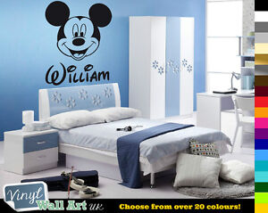 PERSONALISED-Kids-Name-MICKEY-MOUSE-Disney-Vinyl-Wall-Art-Sticker-Decal-FREE-P-amp-P