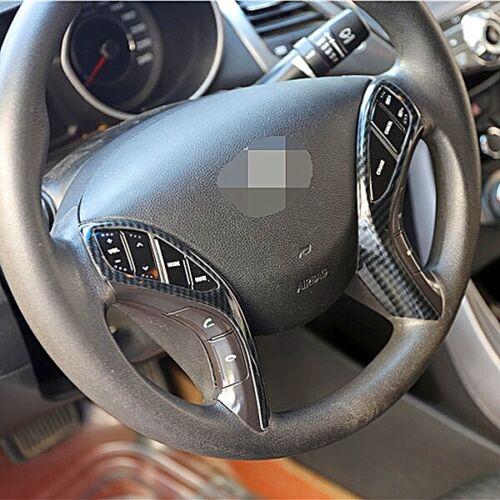 Carbon Optik Lenkrad Blenden Rahmen Abdeckung für Hyundai i30 GD ab 2012