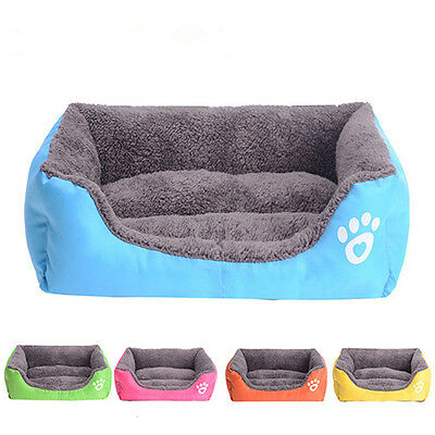 Pet Dog Cat Soft Warm House Plush Small Medium Puppy Cushion kennel 5 Color New