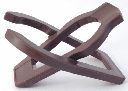 1036 Single Brown Plastic Folding Tobacco Pipe Stand Rack Holder Pipe Rest