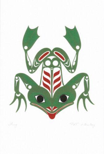 Frog Pat Wesley Art Card Haida Northwest Coast Native