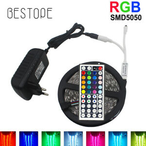 5-20M RGB 5050/3528 LED Strip light SMD +24/44 Key IR Remote 12V Power Full Kit