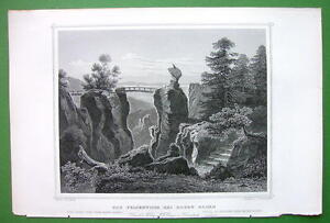 GERMANY-Natural-Rock-Gate-near-Baden-Baden-1853-Antique-Print