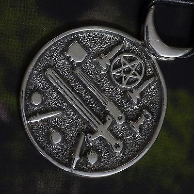 Billiger Preis Peter Stone Wicca Pentakel Amulett 925silber Magie Symbole Ritualwerkzeuge