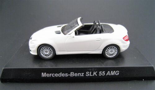 Mercedes-Benz SLK 55 AMG en blanc Kyosho Japon échelle 1:64 Neuf dans sa boîte