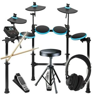 alesis dm lite kit folding electronic drum kit sticks stool headphones dmlite ebay. Black Bedroom Furniture Sets. Home Design Ideas