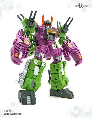 Transformers toy Iron Factory IF EX-18 Scorpion Megazarak Minis figure New