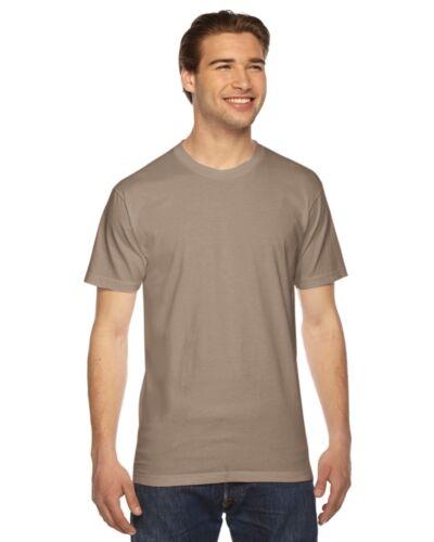 American Apparel Mens Fine Jersey Short Sleeve T-Shirt XS-3XL 2001W