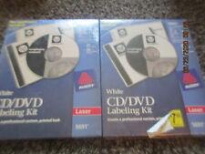 2 New Avery 5691 White Cd Dvd Design Kit Labels Cddvd Laser Jewel Case Inserts
