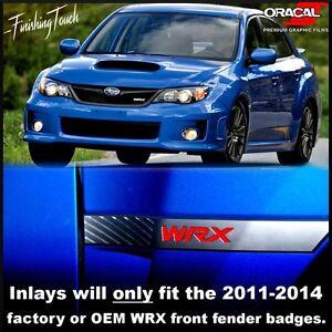 La Foto Se Está Cargando Insignia Guardabarros WRX  Vinilo Superposiciones Incrustaciones Subaru Logo
