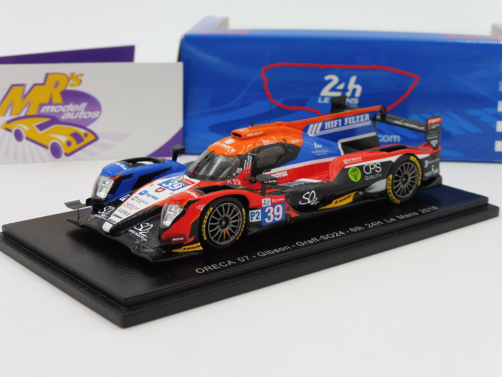 SPARK s7024   ORECA  07-Gibson No. 39 6th 24 H LeMans 2018  GRAFF-so24  1 43 NEUF  magasin d'usine