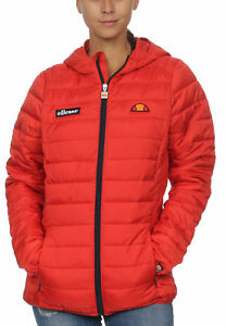 Donna Ellesse Lompard Scarlet Imbottito Rosso Giacca 65xwp5qz