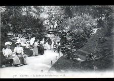 TROYES (10) PASSERELLE du JARDIN de la VALLEE SUISSE trés animé début 1900