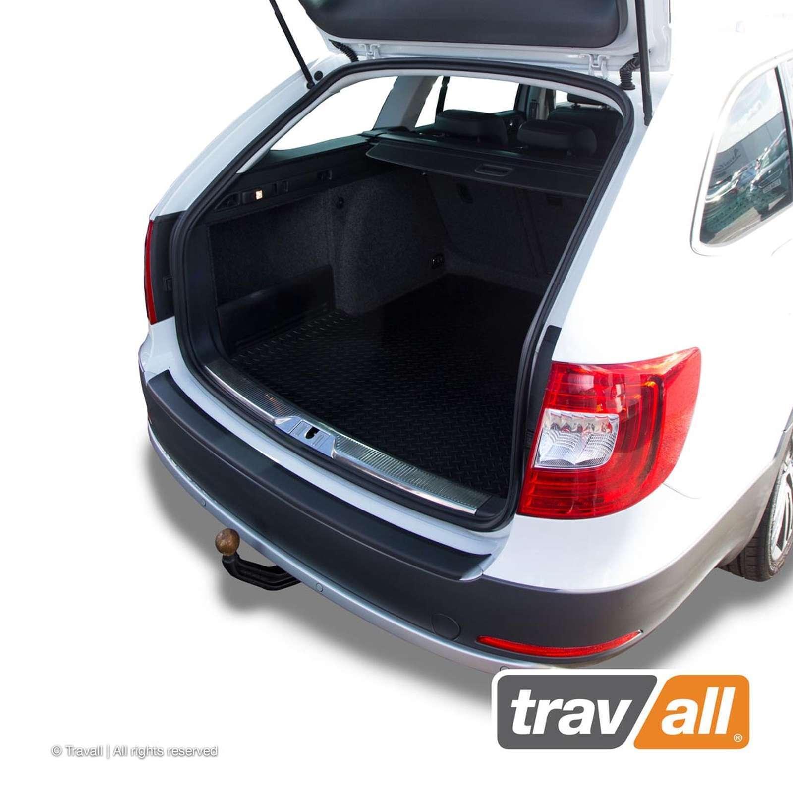 Skoda Superb Combi Estate Travall Bumper Protector 2015 Black Plastic Vehicle Parts Accessories Bumper Strip