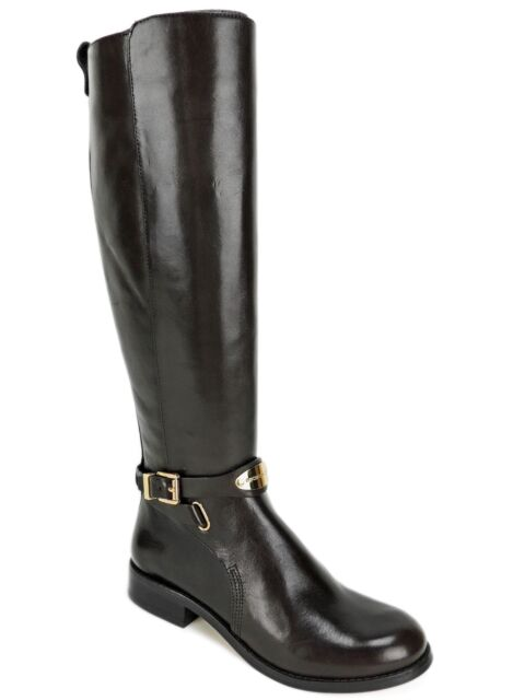 6977e2f8be5a Michael Kors Women s Arley Riding Boots Dark Chocolate Brown Leather Size  ...