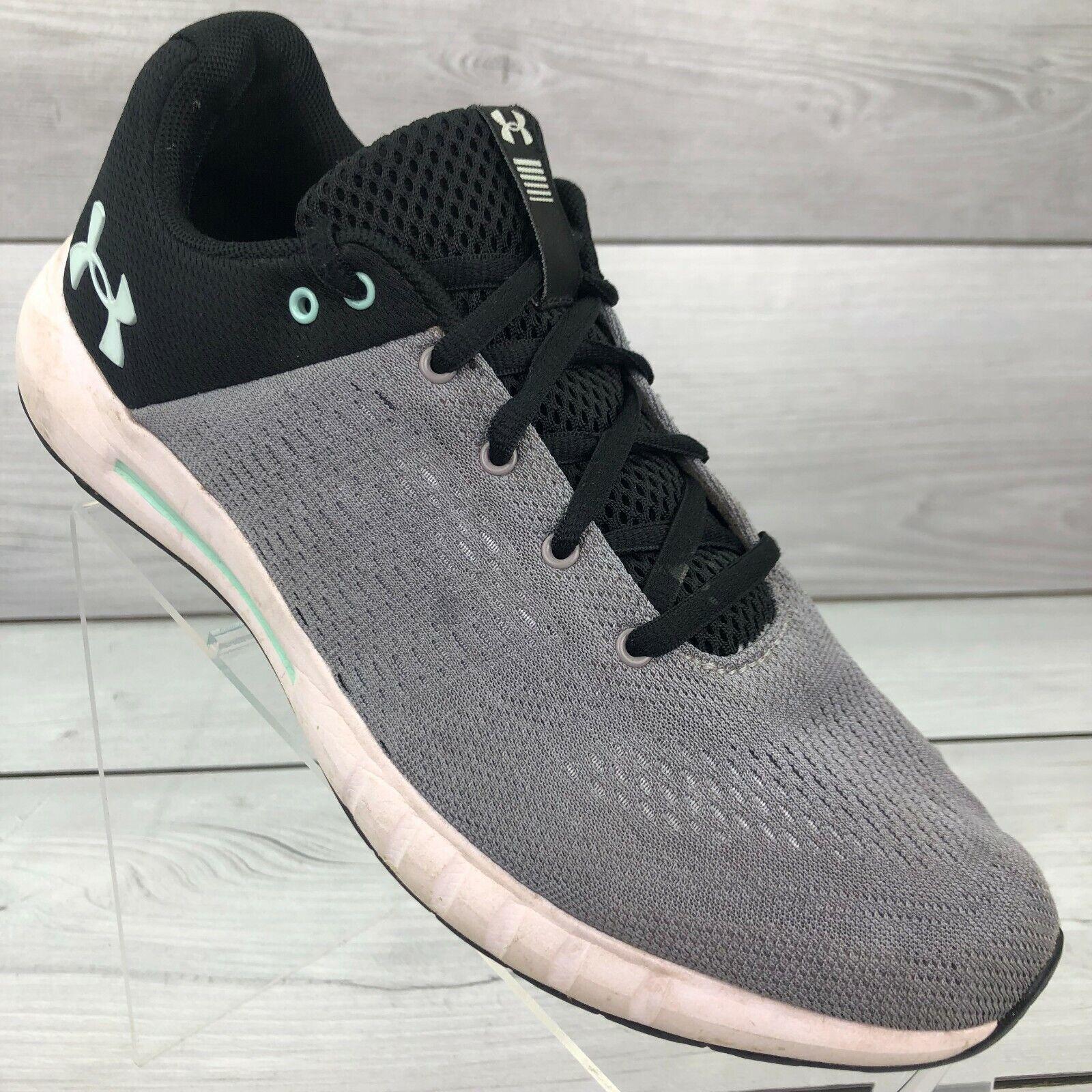 Under Armour Femmes Micro G Pursuit Athlétique Chaussures De Course Gris/Blanc Sz 10