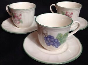 Image is loading Epoch-Collection-China-MARKET-DAY-Cup-&-Saucer- & Epoch Collection China MARKET DAY Cup \u0026 Saucer Sets #801 Set of 3 | eBay