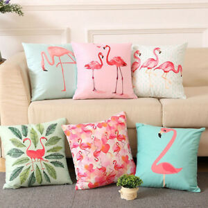 Am-Fashion-Flamingo-Polyester-Throw-Pillow-Case-Sofa-Cushion-Cover-Decor-Eyeful