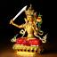 14-5CM-Tibet-Buddhism-Resin-Colour-Manjuist-Kwan-yin-Guan-Yin-Goddess-Statuary thumbnail 3