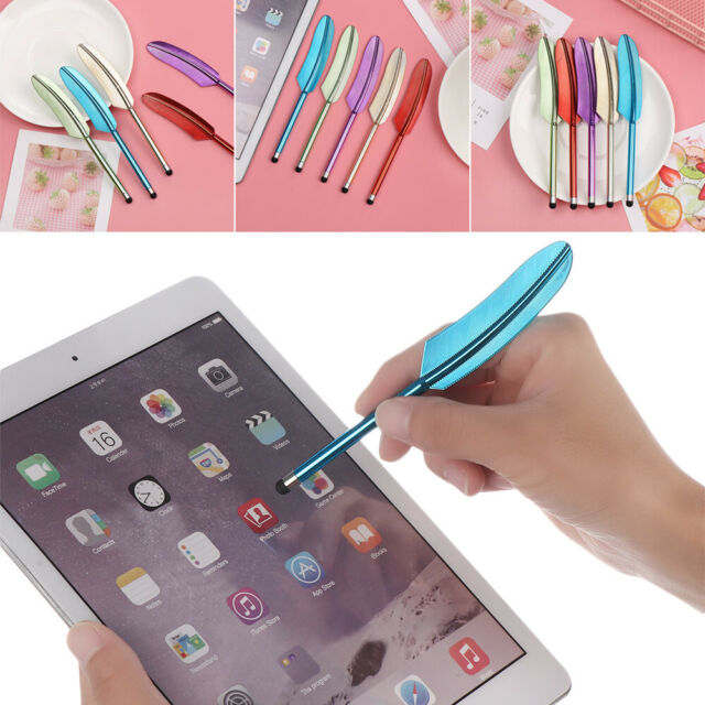 Newest Feather Capacitive Stylus Touch Screen Pen for iPhone 4S 4G iPad Touch//