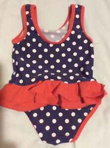 New Mothercare Baby Toddler Girls Summer Pink Butterfly Swimsuit Costume 18-24 m