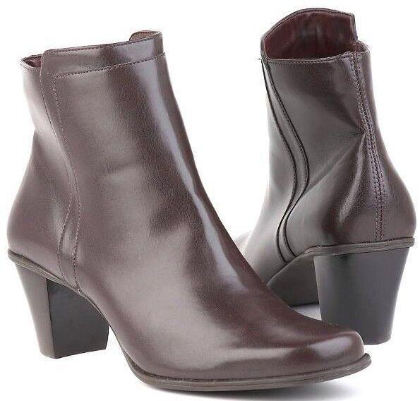Nuevo Mujer Tobillo Tacón Marrón Naturalizer Cremallera Cremallera Cremallera lateral Bota Zapato Talla 7.5 M fdb684