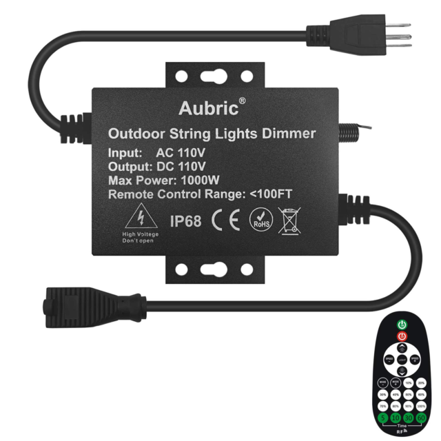 Outdoor Dimmer Switch For String Lights, Outdoor Dimmer Switch