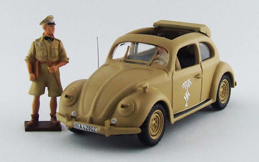 Volkswagen VW Maggiolino Afrika Korps 1941 W  Rommel And Driver Figures 1 43 RIO
