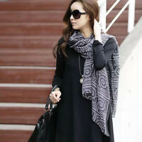 Ladies Women Long Soft Chiffon Scarf Wrap Large Silk Winter Shawl Stole Scarves