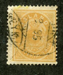 ICELAND SCOTT# 21 FINELY USED AS SHOWN CATALOGUE VALUE
