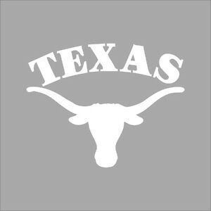 Texas Longhorns #3 College Logo 1C Vinyl Decal Sticker Car Window Wall