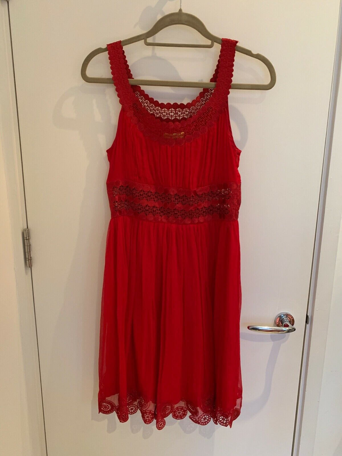Red Silk Catherine Malandrino  Dress