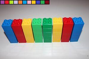 hoch 2 Bausteine 2 x 2 x 2-4er Noppen Lego Duplo helll-blau Steine
