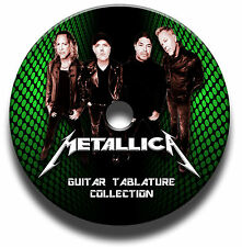 METALLICA HEAVY METAL ROCK GITARRE ETIKETTEN TABLATURE LIED BUCH ANTHOLOGY