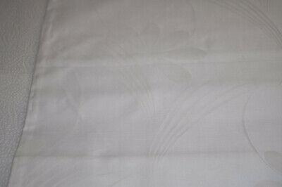 2 X Damast - Bettbezug Weiß - Einwebmuster 120 X 195 Cm Im In- Und Ausland FüR Exquisite Verarbeitung, Gekonntes Stricken Und Elegantes Design BerüHmt Zu Sein