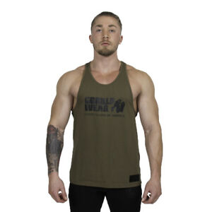 4bb2a276c7964 Image is loading Gorilla-Wear-Classic-Tank-Top-Army-Green