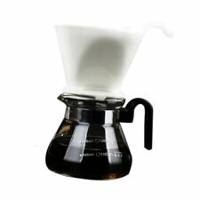 Pour Over Coffee Maker Glass 400ml 3 Cup Coffee Plastic Collar With Filter