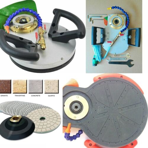 "ECOEDGE Portable Router Bit Base 5/"" Diamond Polishing Pad 15 granite marble care"
