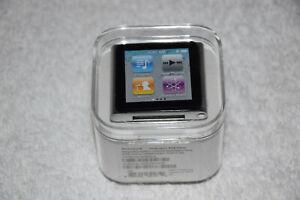 Apple Ipod Nano 6th Generation 8gb Silver Mc525ll A Aac Wav Mp3 Media Player New Ebay