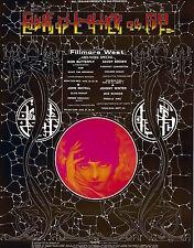 MINT Johnny Winter Iron Butterfly 1970 BG 247 Fillmore Poster