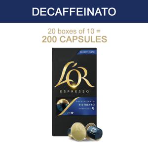 L'Or LOR Espresso Decaf Intensity 9 - Nespresso* Compatible Pods [200 Capsules]