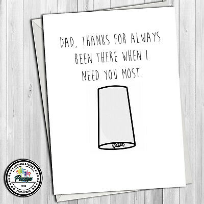 Birthday Card #204 Greetings Card Spider Comedy Rude Funny Humour Fathers Day