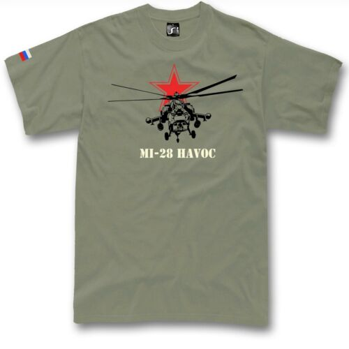 Mi-28 Havoc t shirt Russia army attack helicopter CCCP T Shirt Army copter
