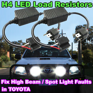 Details about 2X H4 LED Headlight Load Resistor Decoder, Solve High Beam  Malfunction in TOYOTA