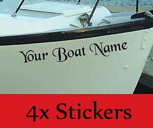 Image Is Loading PERSONALISED BOAT NAME Decals Stickers Graphics X4